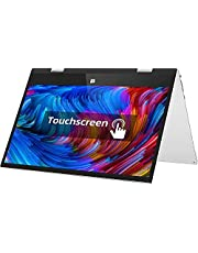 Jumper 11.6 inch FHD Touchscreen Convertible Laptop,6GB DDR3 128GB eMMC Windows 10 Flip Laptop Intel Celeron Quad Core CPU 360 Degree Rotatable Ultrabook Laptop Supports 256GB TF Card Extension