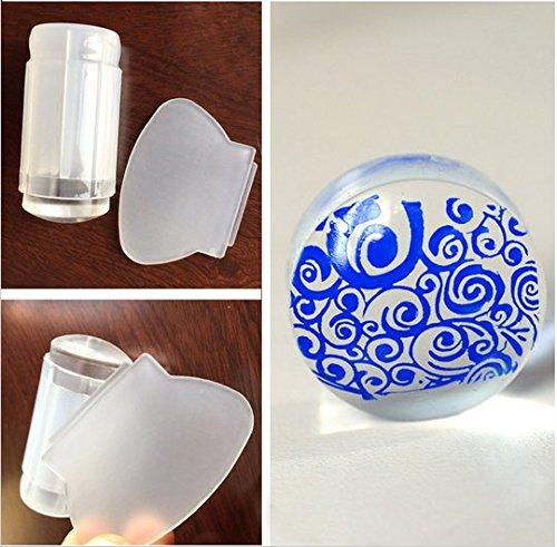 Jelly Tampon et Grattoir (Spatule) Big Transparent pour stamping – Cute Nails