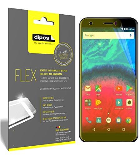 dipos I 3X Schutzfolie 100prozent kompatibel mit Archos Core 55S Folie (Vollständige Bildschirmabdeckung) Bildschirmschutzfolie
