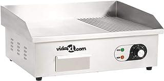 vidaXL Plancha Électrique Acier Inoxydable 3000 W Barbecue Grill de Table