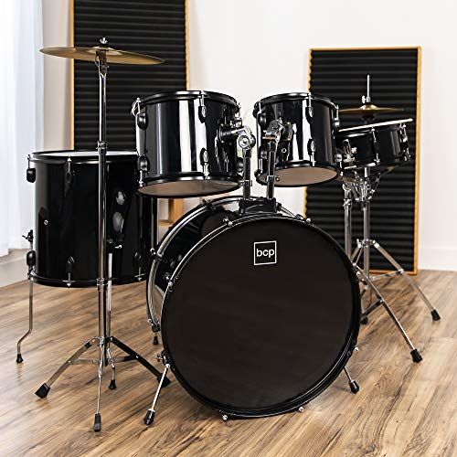 Best Choice Products 5-Piece Full Size Complete Adult Drum Set w/ Cymbal Stands,...
