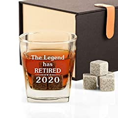 【Ideal Gift for Retirement】Searching for the ideal gift for Retirement? Look no further! This classic and upscale whiskey gift set is ideal for all spirits enthusiasts. Natural linen gift box and unique personalized milestone 2020 whiskey glass will ...