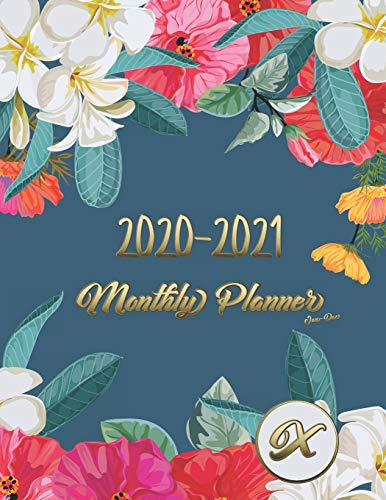 2020-2021 JAN-DEC Monthly Planner: JAN 2020-DEC 2021 2 Year Daily Weekly Calendar 24Month Appointment Notebook for To-Do List Academic Agenda Schedule ... with important initials A-Z(Flower), Band 24)