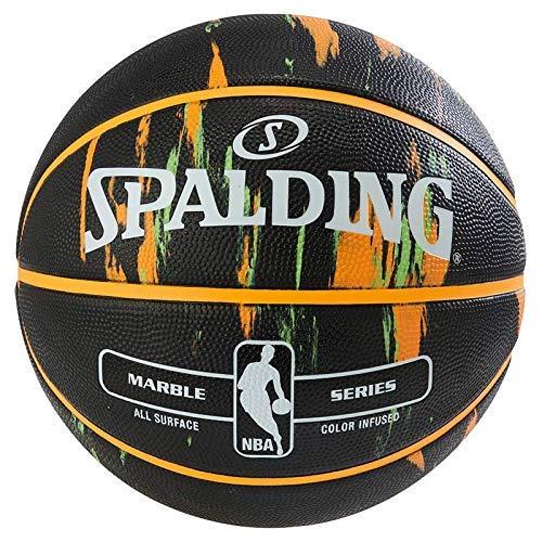 Spalding Unisex– Erwachsene NBA MARBLE Black SZ.7(83-882Z) Basketball, black, 7