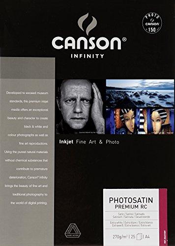 Canson 6231009 Photosatin Premium RC A4 25 21 x 29,7 cm (A4) Carta fotografica, bright white