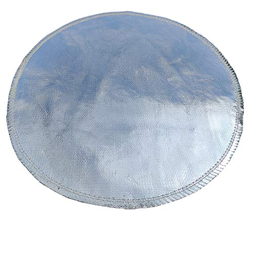 Dun Fireproof Mat(36〞)Fire Resistant Fire Pit Mat For Deck Fireproof With Aluminum Foil and Glass Fiber For Burn Barrel Fire Pit Grill To Protect Your Deck Patio Lawn Or Campsite From Fire Burn(36in)