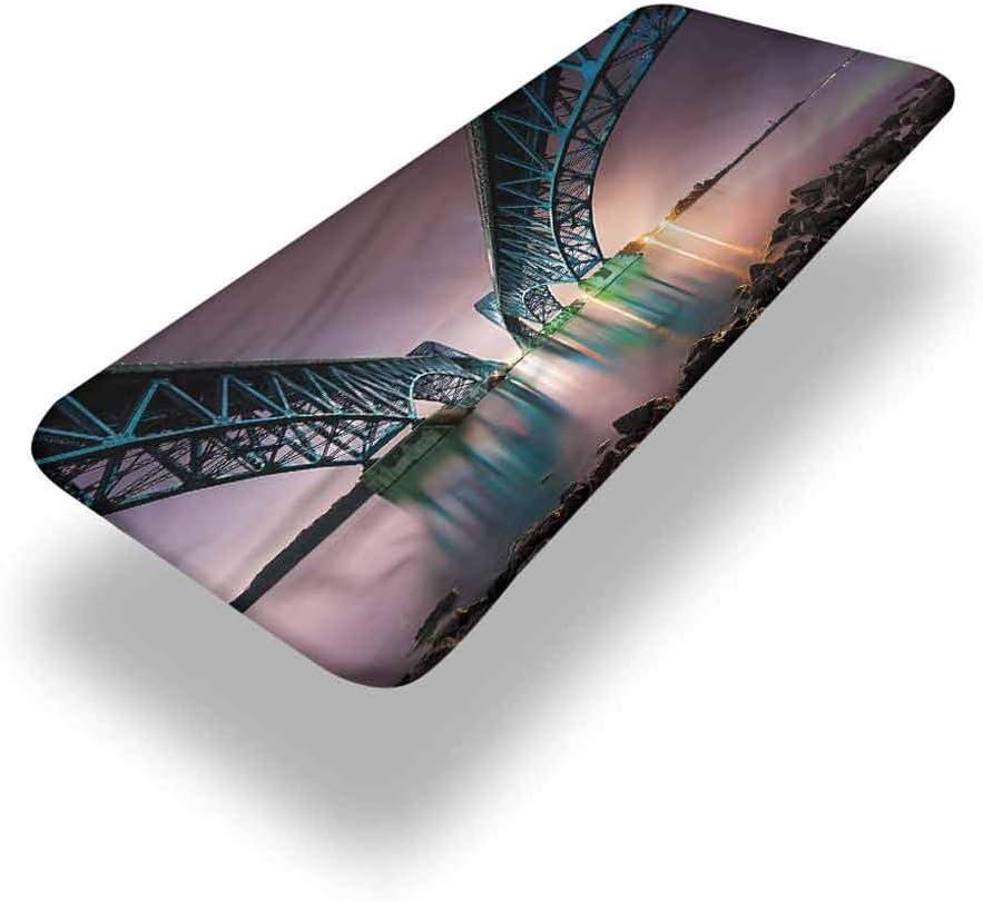 LCGGDB Mantel ajustable de poliéster para mesa de picnic de Estados Unidos, South Grand Bridge en Niagara con bordes elásticos, 91,4 x 243,8 cm, para fiestas de Navidad
