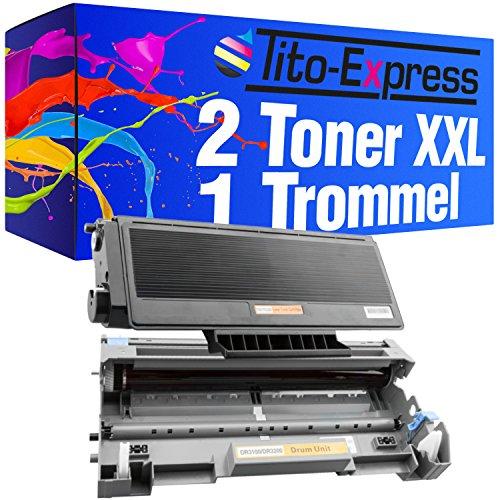 Tito-Express PlatinumSerie 2 Laser-Toner XXL & 1 Trommel als Ersatz für Brother TN-3280 | Kompatibel mit HL-5300 5340 5340D 5340DL 5340DN 5340DN2LT 5340DNLT 5340DW 5350 5350DN 5350DN2LT