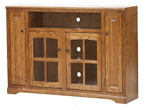 Eagle Oak Ridge Tall Bookcase Entertainment Console, 66' Wide, Medium Oak Finish