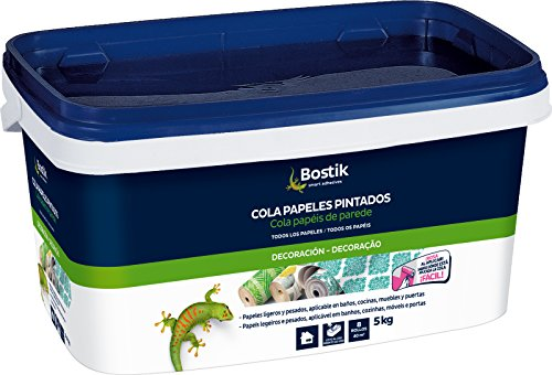 Bostik 30608969 Cola para empapelar, Rosa, 5 kg
