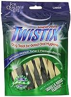 Twistix Dental Chews for Pets with Vanilla/Mint Flavor Mint 犬 Lサイズ