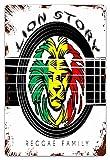 DECISAIYA Vendimia Cartel de Chapa metálica The Lion Of Judah Rasta Rastafari Jamaica Reggae Placa Póster,Decoraciones de de Pared de Hierro Retro para Café Bar Pub Casa 20x30cm
