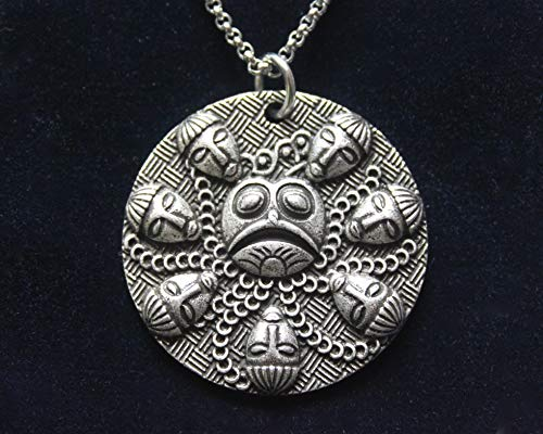 Ogmios Ogma Irish Celtic War God Charm with 18 inch Stainless Steel Chain and Gift Pouch