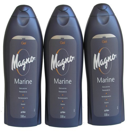 3 Bottles of Magno Marine Shower Gel 18.3oz./550ml by Magno Classic