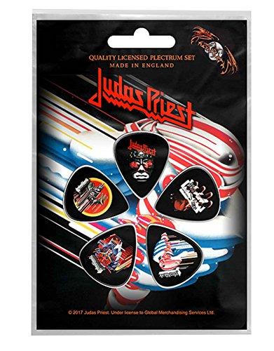 Judas Priest Plectrum Pack Guitar pick x 5 Band logo british Steel...