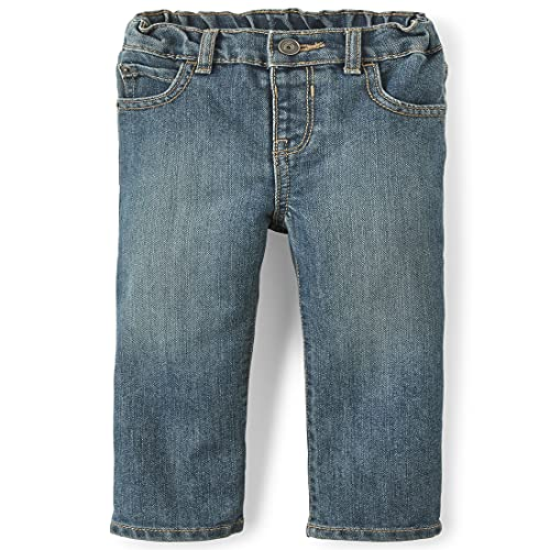 The Children's Place Baby Boys and Toddler Boys Basic Bootcut Jeans, Tide Pool, 3T