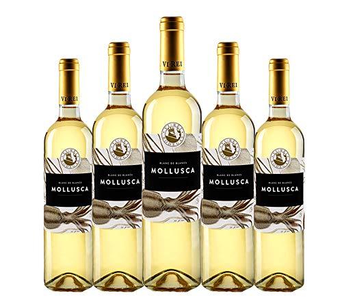 Mollusca Blanco 2019. Vino Blanco Vegano. Variedades: Chardonnay,Giro Ros,Malvasía, Sauvignon Blanc. Pack de 6 botellas.