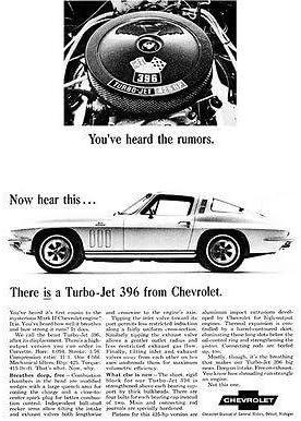 1965 Chevrolet Corvette 396 Original car advertisement