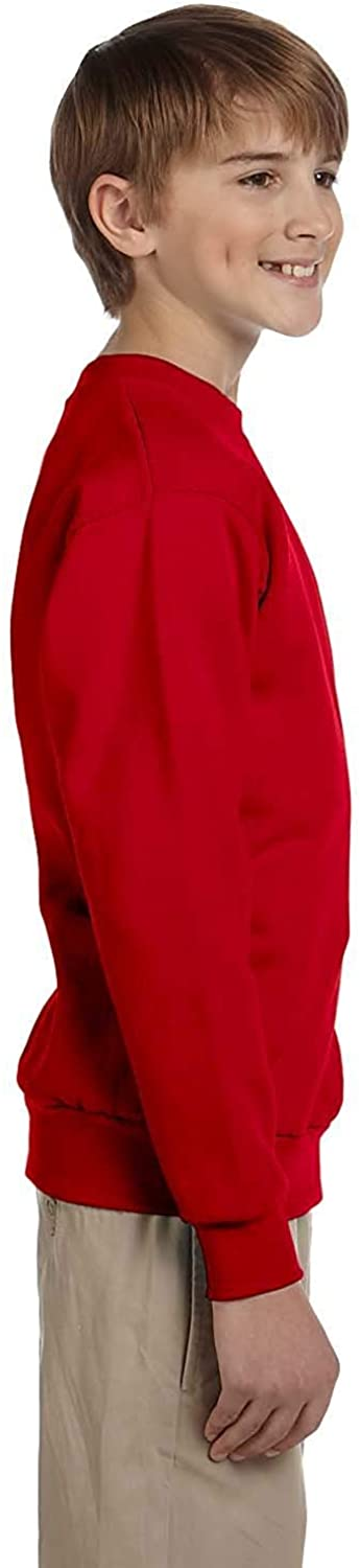Hanes ComfortBlend - Youth 7.8-Ounce Sweatshirt. P360, Red M