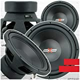 2X SoundXtreme ST-412 Premium Elite 12 Inch Car Audio Subwoofer 4000 Watts Max Power for Pair Dual 4 Ohm Voice Coil High Power Bass Surround Sound 12' Sub Speaker System Pair