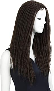 NOBLE MAX Dreadlock Braid Wig Black Dreadlock Hair Wig Lace Parting Wig for Black Women (26inches, 4)