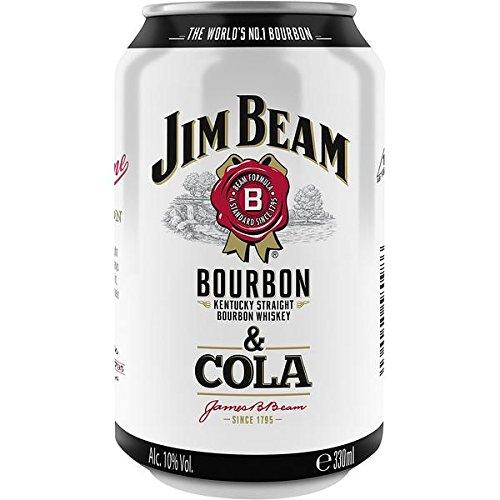12 Dosen Jim Beam Cola a 0,33L 10% Vol. Dose inc.3.00€ EINWEG Pfand