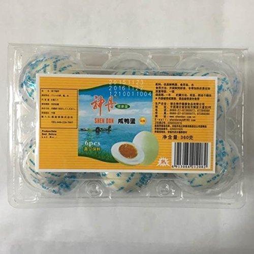 中国名物 【神丹中国鹹鴨蛋(ゆで塩卵・塩蛋・鹹蛋)】中華料理人気商品・中華食材調味料・6個入