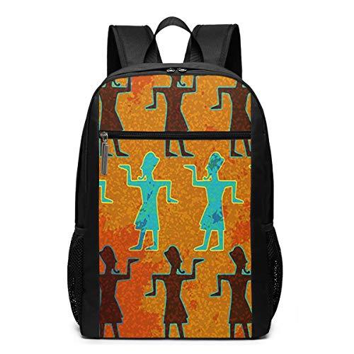 Schulrucksack Gehen Sie wie EIN ägyptischer Pharao, Schultaschen Teenager Rucksack Schultasche Schulrucksäcke Backpack für Damen Herren Junge Mädchen 15,6 Zoll Notebook