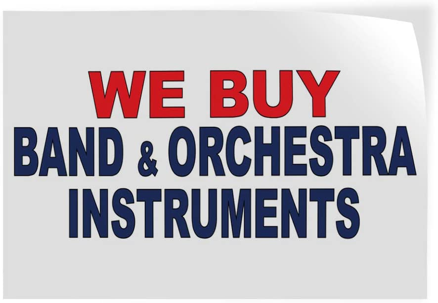 Decal Stickers Multiple Sizes shipfree We Orchestra Courier shipping free Band Instrument Buy
