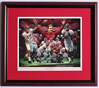 Jems Online Inc. 2nd and 26 Framed Print by Daniel Moore - Alabama Defeats Georgia to Win The 2017 National Championship