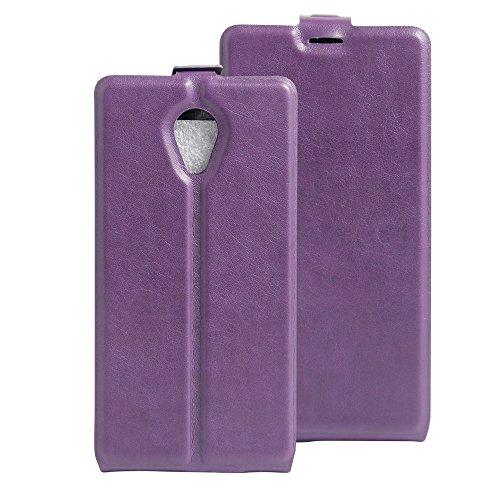 Litao-Case CN Hülle für WIKO S-Kool hülle Flip Leder + TPU Silikon Fixierh Schutzhülle Case 4
