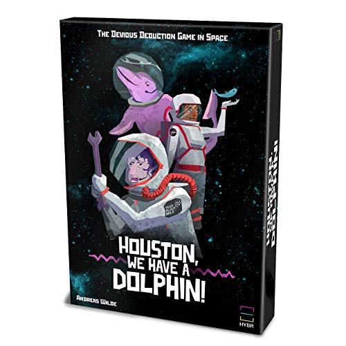 HYBR Houston, we Have a Dolphin Games - Social Deduction Brettspiel im Weltraum für 3-5 Spieler | Das Innovative Geschenk für Among Us Fans, Teens, Ehemann und Freund