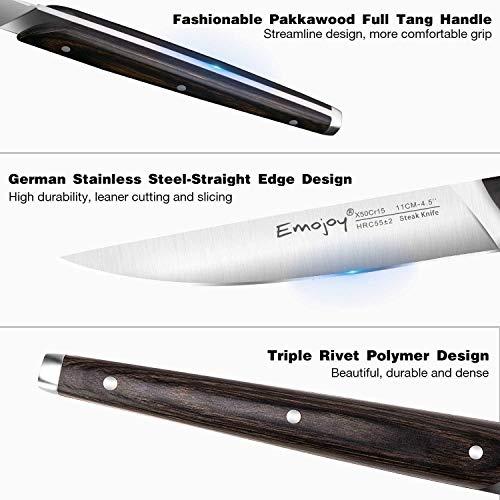 6-piece Steak Knife Set By Emojoy