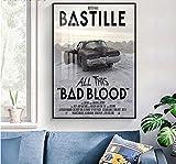 ZzSTX Bastille Leinwand Poster Druckt Wandkunst Malerei