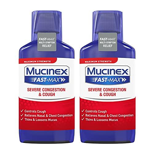 Mucinex Fast-Max Severe Congestion & Cough Liquid Maximum Strength - 6 oz, Pack of 2