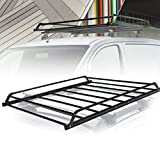 Universal Rooftop Cargo Basket Heavy Duty Cargo Roof Carrier Rack Ideal for SUV,Truck,Car, Roof Top Luggage Carrier for Hauling Luggage. SIZE: L48.4' x W38' x H4.5', 1 Year Warranty
