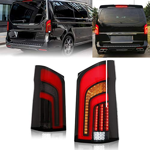 Dynamische LED-Rücklichter, Kontrollleuchte, Bremslicht, Rücklicht, Multifunktions-Rauchglas, passend für...