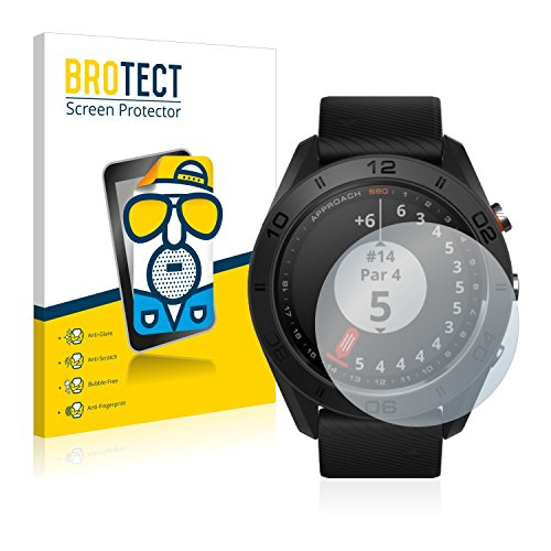 BROTECT 2X Entspiegelungs-Schutzfolie kompatibel mit Garmin Approach S60 Bildschirmschutz-Folie Matt, Anti-Reflex, Anti-Fingerprint