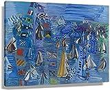 APAZSH Laminas para Cuadros Raoul Dufy - Regatta At Cowes Arte Decoracion de Pared Poster Cuadros de Arte Lienzo Rectangular Pintura al óleo 40x60cm x1 Sin Marco