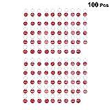 NUOBESTY Aluminium Nummerierte Tags mit Schlüsselanhängern 1 Satz Rot Nummer 1-100 Nummer Id Tags Schlüsselanhänger Schlüsselanhänger Tragbare Gepäck Id Tags Schlüsselanhänger