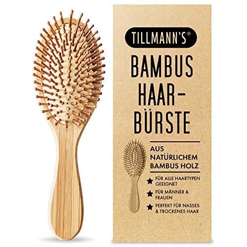 Bambus Haarbürste mit Naturborsten (bamboo hairbrush) braun von Tillmann´s, vegan, umweltfreundlich, zero waste