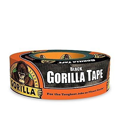 "Gorilla Tape, Black Duct Tape, 1.88"" x 35 yd, Black"