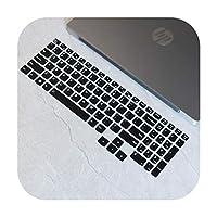 For Lenovo R7000 2020 Y7000 Y7000P2020バージョン用シリコンキーボードカバースキンプロテクター -Black