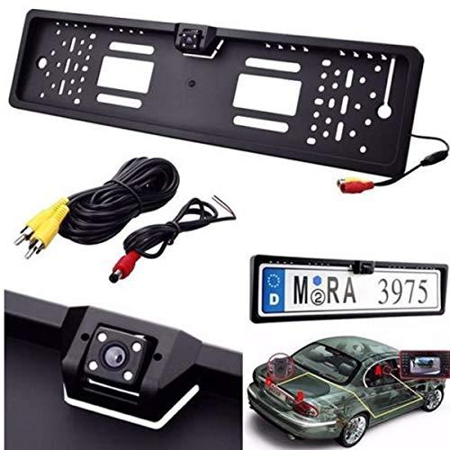 Generico PORTATARGA con Telecamera RETROMARCIA RETROCAMERA 4 LED Auto Visione Notturna