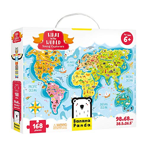 Banana Panda - What in the World Young Explorers - Großes Bodenpuzzle und Lernaktivität für Kinder ab 6 Jahren (Englisch)