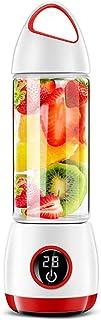 N/ A Portable Mini USB Rechargeable Électrique Numérique Presse-Agrumes Affichage avec Tasse de Jus pour Fruits Légumes