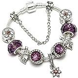 Vintage Kristall Blume Charm Armband Für Frauen...