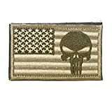 Cobra Tactical Solutions Militar Airsoft Morale PVC Patch Parche Punisher Skull Badge Bandera de USA … (Oro)