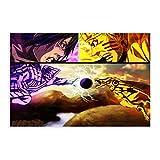 Póster de Narutopóster japonés de anime, decoración de dormitorio, paisaje, oficina, decoración de habitación, regalo, 30 x 45 cm, estilo Unframe-1