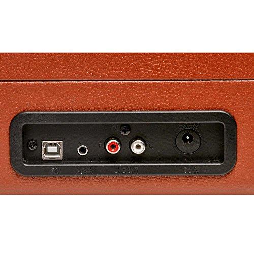 Denver Rétro USB Platine Tourne-Disque PC Platine Vinyle DJ MP3 USB Haut-Parleur VPL-120 Brun